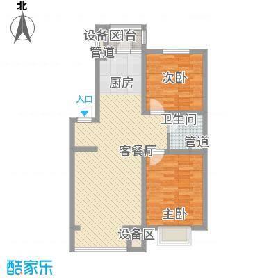 风华时代87.76㎡风华时代户型图2室2厅1卫户型10室