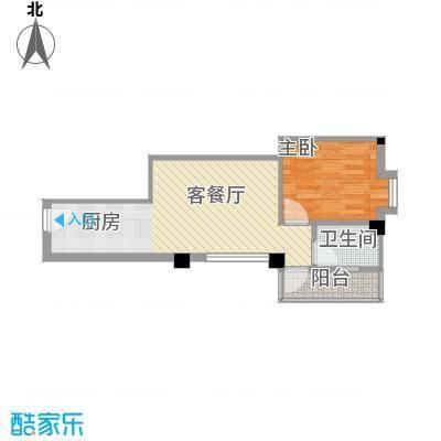 蓝月湾三期44.00㎡蓝月湾三期户型图1-3号楼标准层D户型1室1厅1卫户型1室1厅1卫
