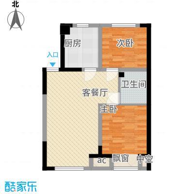 浑河湾80.83㎡浑河湾户型图y22室2厅1卫户型2室2厅1卫