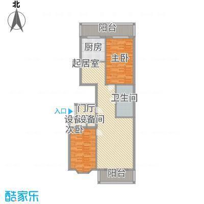 隆庆河畔家园84.70㎡隆庆河畔家园户型图2室2厅1卫1厨户型10室