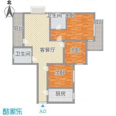 东泰花园又一居75.00㎡东泰花园又一居3室户型3室
