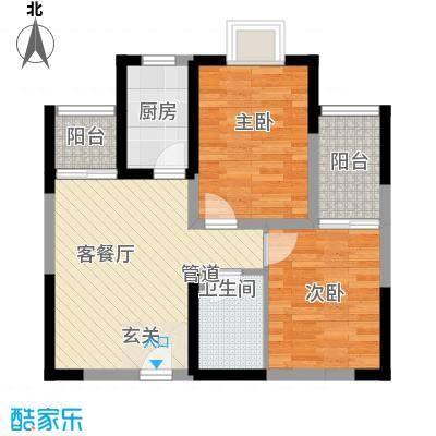 学林雅苑户型图1 2室2厅1卫1厨