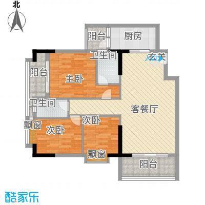 稻花村104.00㎡稻花村3室户型3室