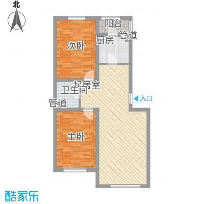 假日名居86.61㎡假日名居户型图F2户型图2室2厅户型2室2厅