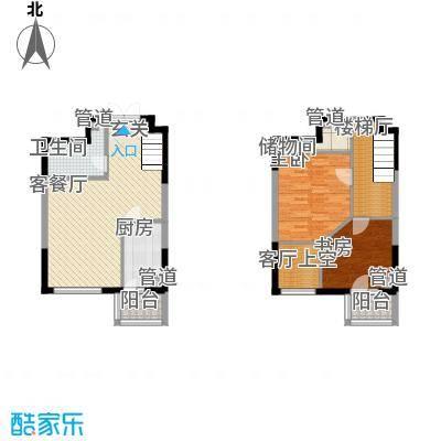 香堤湾52.70㎡香堤湾户型图C1户型2室2厅1卫1厨户型2室2厅1卫1厨