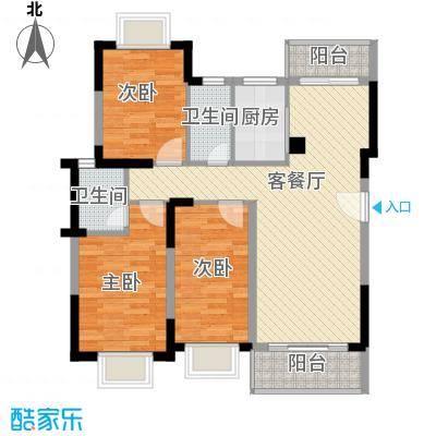 蓝堡125.00㎡蓝堡3室户型3室