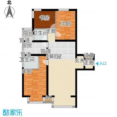 水木清华115.90㎡水木清华户型图3室2厅2卫户型10室