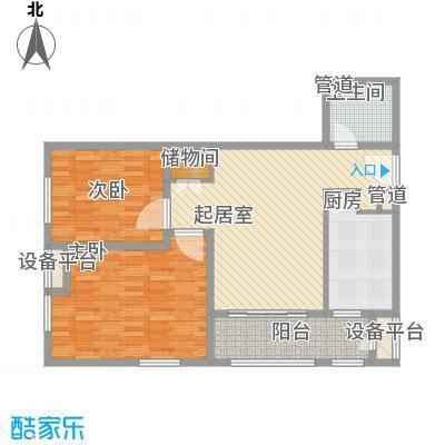 红星MOMA新程87.83㎡红星MOMA新程户型图A5户型2室1厅1卫1厨户型2室1厅1卫1厨