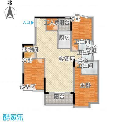 骏马山庄138.00㎡骏马山庄4室户型4室