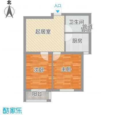 双E港二期63.80㎡双E港二期户型图D户型2室1厅1卫1厨户型2室1厅1卫1厨