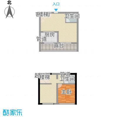 绿地国际花都104.74㎡绿地国际花都户型图景云里B3-22室2厅2卫1厨户型2室2厅2卫1厨