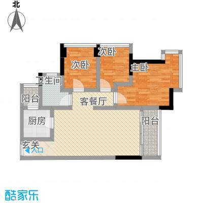 中天城市之门中天城市之门3室2厅户型3室2厅