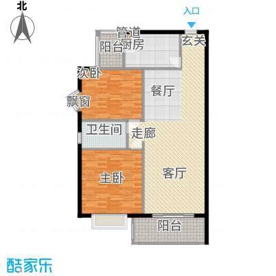 齐鲁世纪园114.10㎡齐鲁世纪园户型图2室户型图2室2厅1卫1厨户型2室2厅1卫1厨
