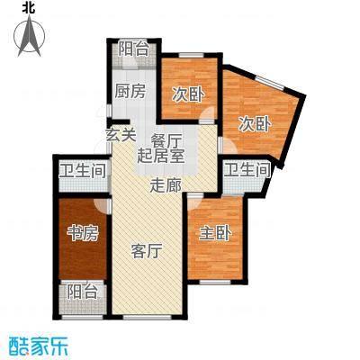 美地庄园・苹果园美地・苹果园三期户型图16#E户型户型10室