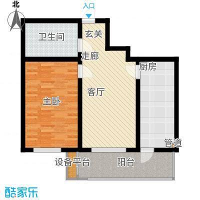 鸿景兴园鸿景兴园户型图户型图1室1厅1卫1厨户型1室1厅1卫1厨