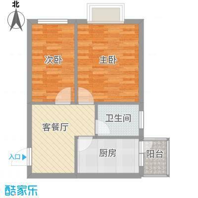 西溪橡园63.56㎡西溪橡园户型图户型B2室1厅1卫1厨户型2室1厅1卫1厨