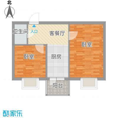 西溪橡园61.70㎡西溪橡园户型图户型C2室1厅1卫1厨户型2室1厅1卫1厨