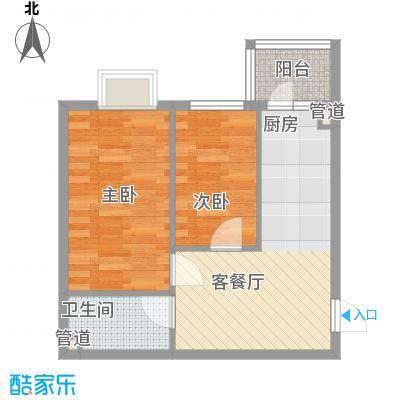 西溪橡园55.37㎡西溪橡园户型图户型D2室1厅1卫1厨户型2室1厅1卫1厨