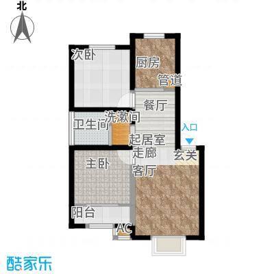 紫荆花园六期60.00㎡紫荆花园六期2室户型2室