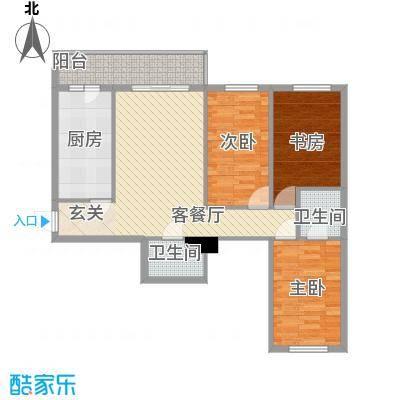明和彩座109.00㎡明和彩座户型图3室1厅2卫1厨户型10室