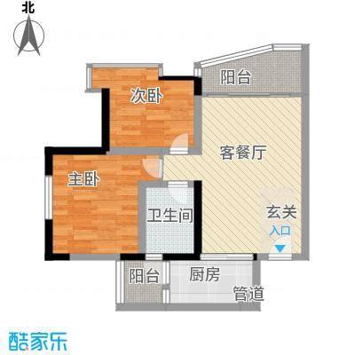 紫荆花园六期78.00㎡紫荆花园六期2室户型2室