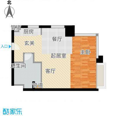 中信德方斯58.00㎡中信德方斯户型10室