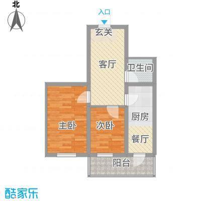 龙房名苑53.20㎡龙房名苑户型图2室1厅1卫1厨户型10室