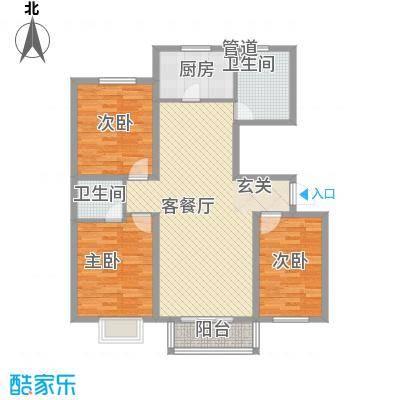 建汇大厦103.00㎡建汇大厦3室户型3室