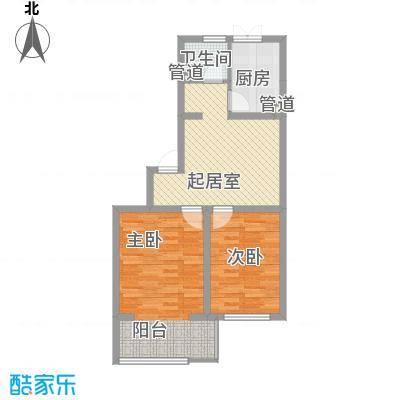 花溪林语78.00㎡花溪林语户型图D户型2室1厅1卫1厨户型2室1厅1卫1厨