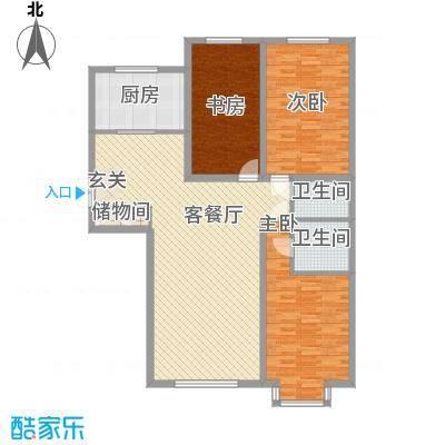 枫景名城155.22㎡枫景名城户型图3室2厅2卫户型10室