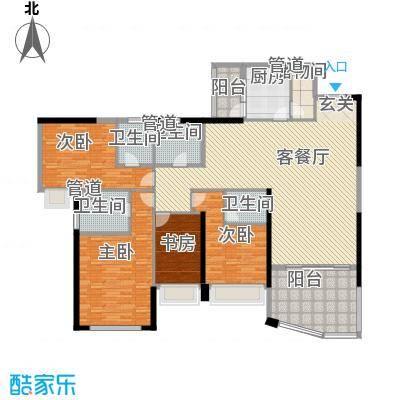 新世纪豪园第一居256.00㎡新世纪豪园第一居4室户型4室
