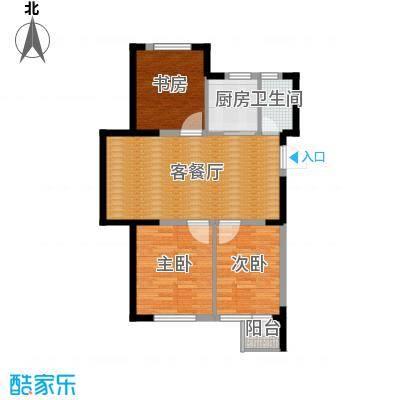 泰莱16区75.62㎡13#奇数层C户型3室1厅1卫1厨