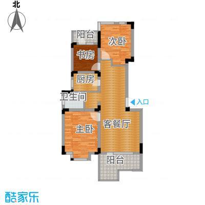 泰莱16区97.81㎡5#楼A户型3室1厅1卫1厨