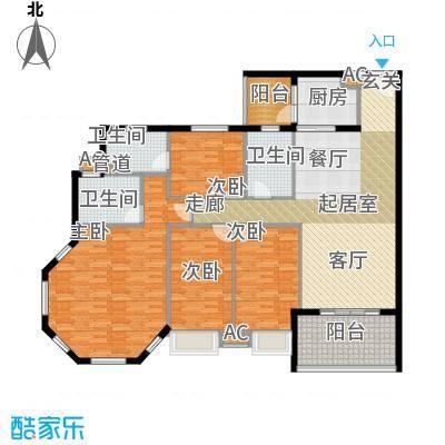 世纪银座179.00㎡世纪银座4室户型4室