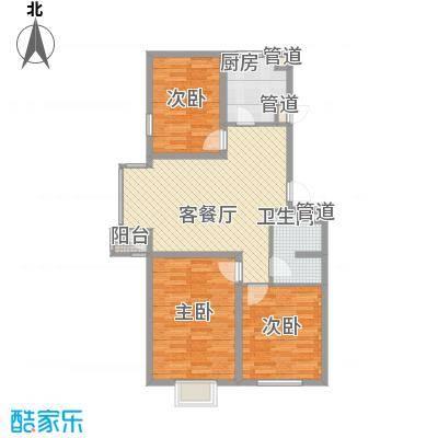 北美家园74.20㎡北美家园户型图G户型2室1厅1卫1厨户型2室1厅1卫1厨