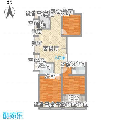 海上硕和城120.46㎡海上硕和城四期4号楼三房户型10室