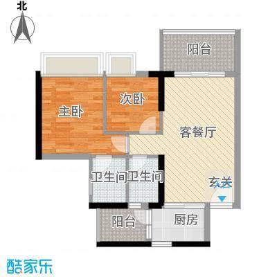 明珠广场(常平)76.00㎡明珠广场(常平)2室户型2室