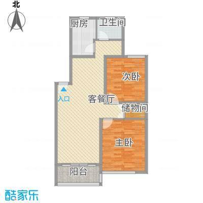新江湾城时代花园新江湾城时代花园户型图88.22室2厅1卫1厨户型2室2厅1卫1厨