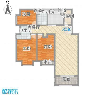 庆峰花园138.00㎡庆峰花园3室户型3室