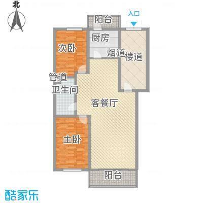 宏发金华苑户型图2室2厅1卫