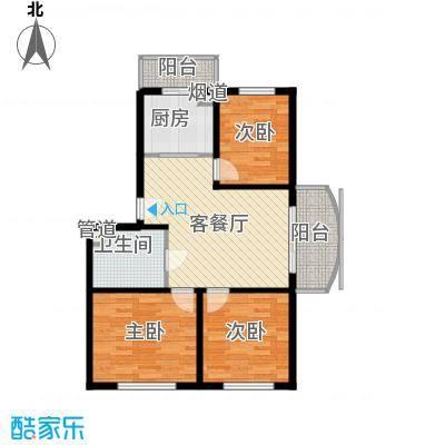 宏发金华苑户型图3室2厅1卫