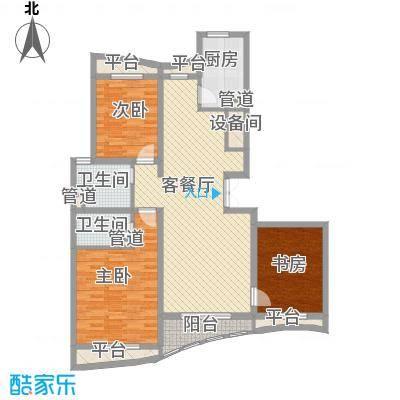 宏城金棕榈户型图C户型 3室2厅2卫1厨