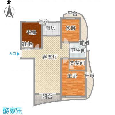 宏城金棕榈户型图G户型 3室1厅1卫1厨