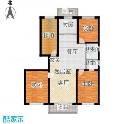 宏发金华苑户型图3室2厅2卫