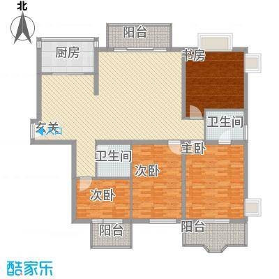 名士阁户型图4室2厅2卫1厨