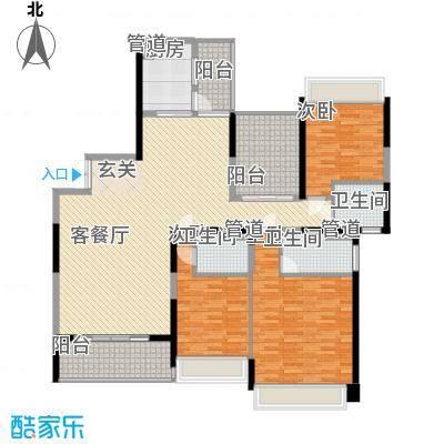 新世纪豪园碧水蓝天 3室 户型图