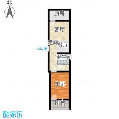 科苑小区62.66㎡科苑小区户型图1室2厅1卫1厨户型10室