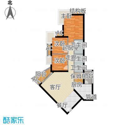 雍华庭四期118.43㎡雍华庭四期3室户型3室