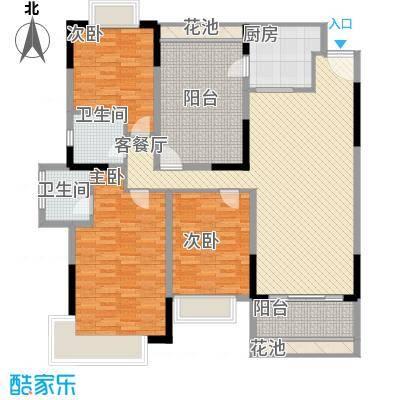 东泰花园嘉华苑75.00㎡东泰花园嘉华苑3室户型3室