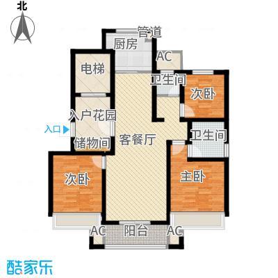 绿地国际花都125.00㎡绿地国际花都户型图高层C户型3室2厅2卫1厨户型3室2厅2卫1厨
